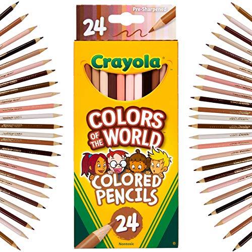 Crayola - Colours of the World-Buntstifte, 24 Stück, sortiert, zur Präsentation der Hautfarbe der ganzen Welt, 68-4607