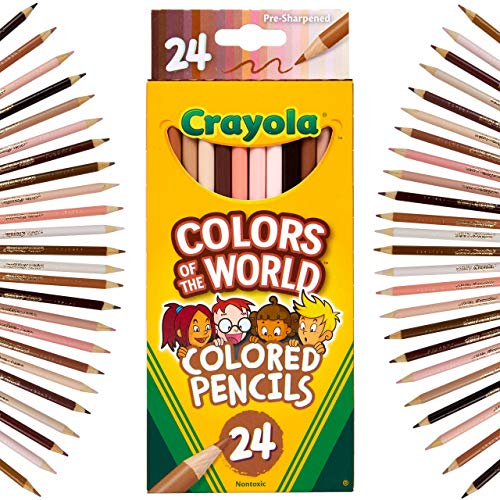 Crayola Colored Pencils 24 Count Colors of The World Skin Tone Colored Pencils 24 Multi