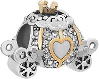 Cinderella Carriage Charm Beads for Charm Bracelets