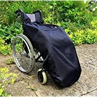 Wheelchair Blanket   Fleece-Lined & Waterproof   Universal fit for Manual and Powered wheelchairs   Adult Size (Plain Black)