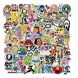 ZZHH 101 Uds Personajes de Dibujos Animados coleccionan Graffiti monopatín Impermeable Maleta de Viaje teléfono móvil portátil Equipaje Pegatinas niños Lindos