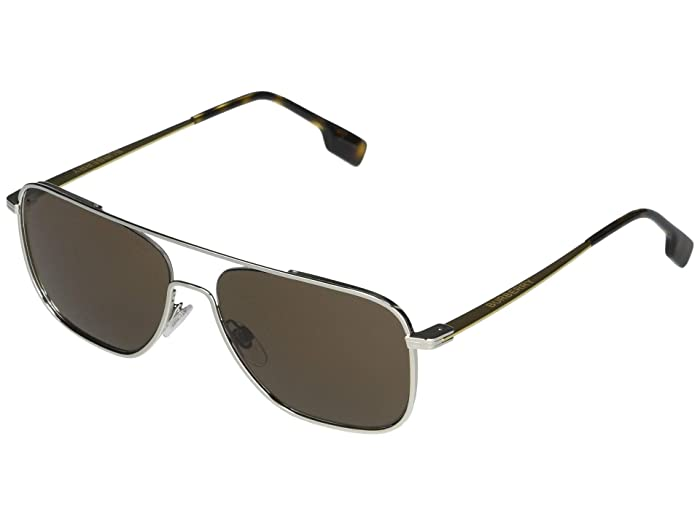 Burberry  BE3112 (Silver/Brown) Fashion Sunglasses