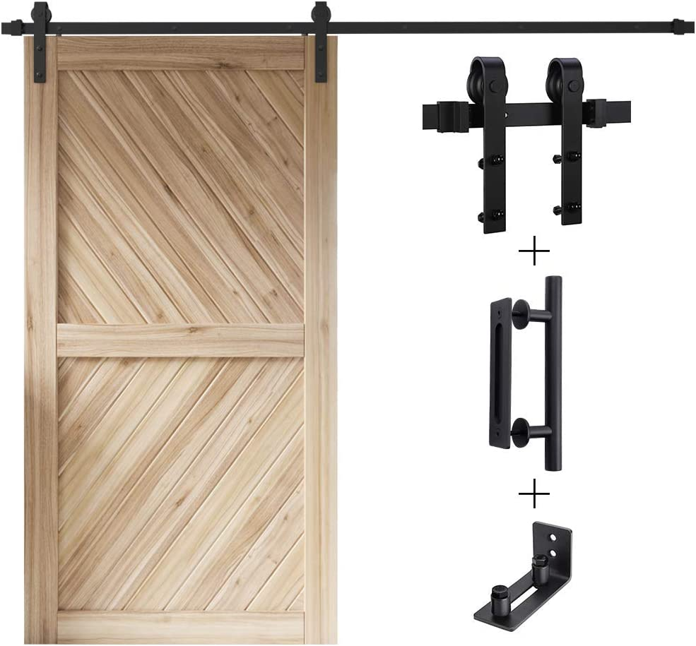 FREDBECK 8FT Sliding Barn Door Du Heavy Hardware Kit Single Max 73% OFF Free Shipping Cheap Bargain Gift