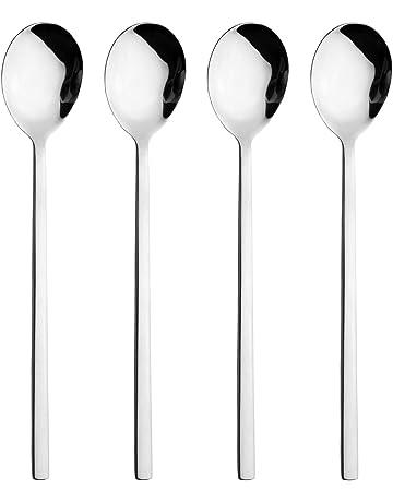 Spoon YOUNGE Cuchara de acero inoxidable estilo coreano con mango largo y exquisito