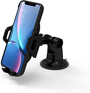 IWIO Car Mount Universal Mobile Phone Car Mount Holder for Auto Windshield and Dash Universal for Cell Phones Vehicle Car Dock Holder for Samsung Galaxy J Max BLACK Mobile Phone Accessories Accessories
