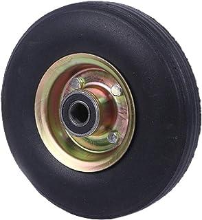 YJJT Industriële wielen, Stevige rubberen wielen, Heavy Duty wielen, Stalen ring, Lading 150kg per ronde, Vervangingsbande...