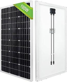 ECO-WORTHY Células de panel solar monocristalino de alta eficiencia 100W genera 0,4kwh / día para el cobertizo de RV de bomba de agua de autocaravana de 12 V