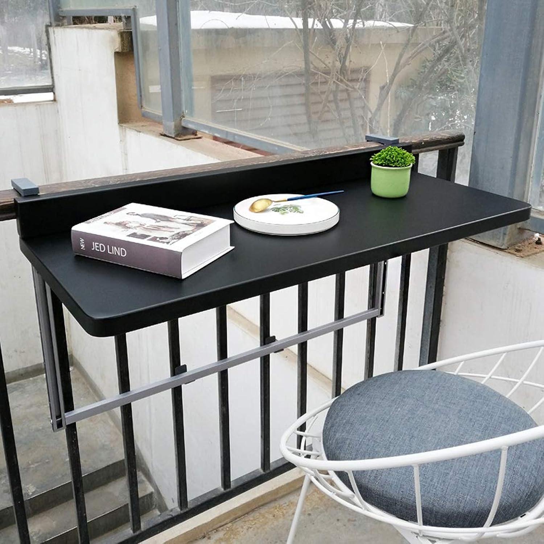 Ailj Wand-Bodentisch, Gelnder Metall Aluminium Hngenden Klapptisch Balkon Hngetisch Moderner Hausbar-Wandbehangschreibtisch 97  40  3 Cm Schwarz-Weiss ( Farbe   Schwarz , gre   97403cm )