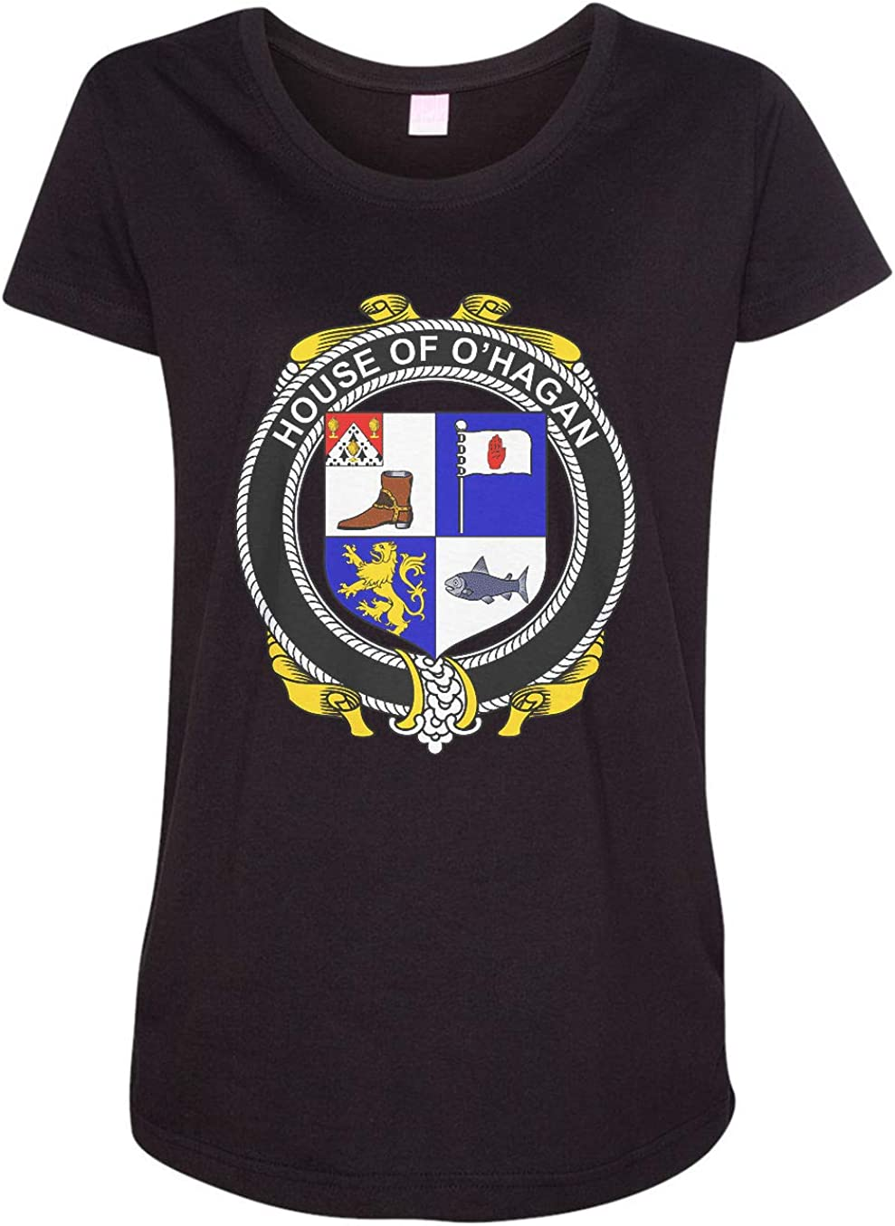 HARD EDGE DESIGN Women's Irish House Heraldry O'Hagan T-Shirt
