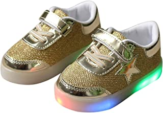 BY0NE Baby Luminous Shoes for Boys Girls Fashion Light Up Casual Kids Glowing Children Sneakers