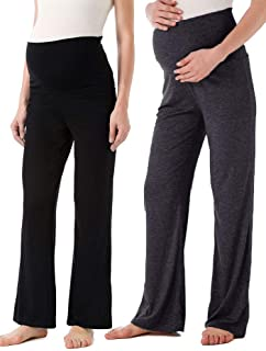 Ecavus Women's Maternity Wide/Straight Versatile Comfy...