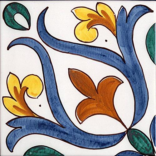 Piastrella da Rivestimento in Ceramica di caltagirone Fatta a Mano