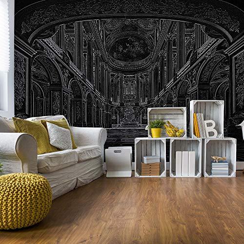 Schwarz Strichzeichnung Die Architektur Vlies Fototapete Fotomural - Wandbild - Tapete - 211cm x 91cm / 1 Teilig - Gedrückt auf 130gsm Vlies - 10689VET - Architektur