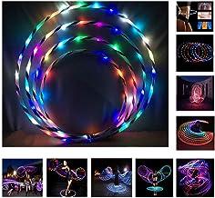 Deportes livianos Yoga Gimnasio Angmile Coloridos c/írculos de luz LED de Hula Hoops para ni/ños no Incluyen bater/ías adecuados para Ejercicios de musculaci/ón