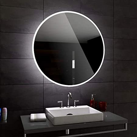"Arshia Creations Neutral White 4000K LED Mirror (24""X24"" Round Mirror)"