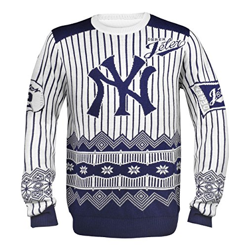 Forever Collectibles NEW YORK YANKEES JETER D. #2 PLAYER UGLY SWEATER LARGE