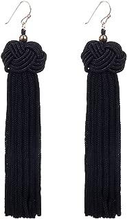 Knotted Tassel Earrings Long Tassel Fringe Earrings Yarn Tassel Earrings
