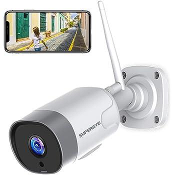 Rilevamento PIR Visore Notturno Audio Bidirezionale IP Camera WiFi Esterno FHD 1080P Telecamera di Sorveglianza Telecamera Impermeabile e Antipolvere