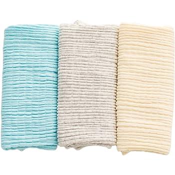 青空販売 0-4歳 ベビー 腹巻き 綿 3枚セット 春夏単層 秋冬二重 (単層:ブルー&グレー&イエロー)