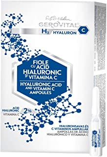 GEROVITAL H3 HYALURON C - Liposomal Hyaluronic Acid and Vitamin C Serum Ampoules - 10 Vials x 2 ml