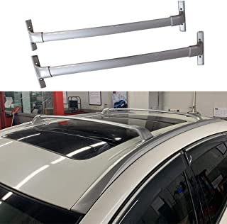 ANTS PART 2Pcs for 2015-2018 Nissan Murano Aluminum Roof Rack Cross Bar Top Rails Luggage Carrier (Silver)