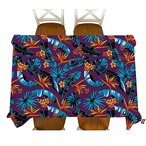 XXDD Mantel de Estilo Simple Hoja de plátano Tropical Hoja de Palma Flor de Oro Amarillo Mantel Impermeable y a Prueba de Polvo A6 140x140cm