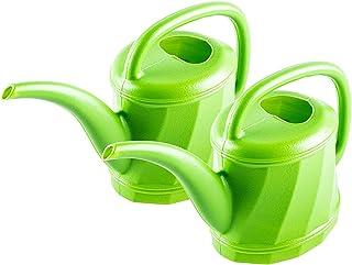 Garden Greens 2PCE Watering Can Plastic Lightweight Portable Indoor Plants 1.5L