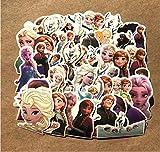 ZJJHX Explosión Reina Aisha Frozen Cartoon Graffiti Sticker Maleta Teléfono móvil PVC Impermeable Etiqueta de Coche 45 Hojas