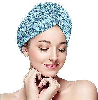 Women's silky double satin sleep cap with premium elastics.Dutch,Cartoon Windmills Design