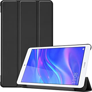 Robustrion Smart Trifold Hard Back Flip Stand Case Cover for Honor Pad 5 8 inch - Black