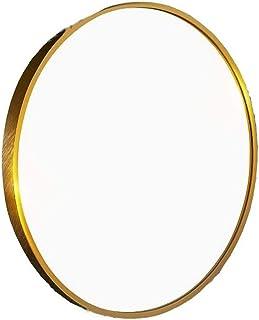 ラウンドバスルームメイクミラー/ブラックフレームシェービングラージドレッシング装飾アルミニウム合金リビングルームベッドルームプレミアム品質ガラス锛圫ize:直径40cm / 50cm / 60cm / 70cm / 80cm锛塡n