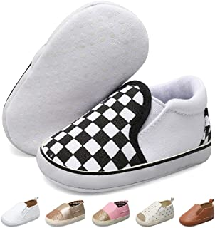 Infant Baby Girl Boy Canvas Shoes Soft Sole Slippers Ankle Sneaker Toddler Grib Shoes First Walker