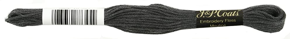 Coats Crochet 6-Strand Embroidery Floss, Dark Pewter Grey, 24-Pack