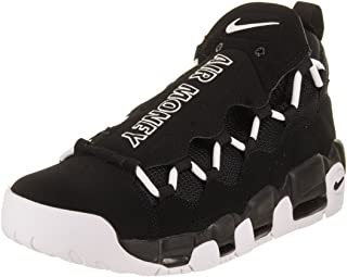 Nike Mens Air More Money Leather Platform Athletic Shoes Black 11.5 Medium (D)