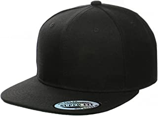 Blank Adjustable Flat Bill Plain Snapback Hats Caps (All Colors)