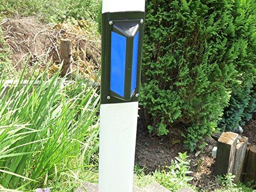 100x Wildwarner Wildwarnreflektor für Leitpfosten blau Wildschutz Wildunfälle Reflektoren