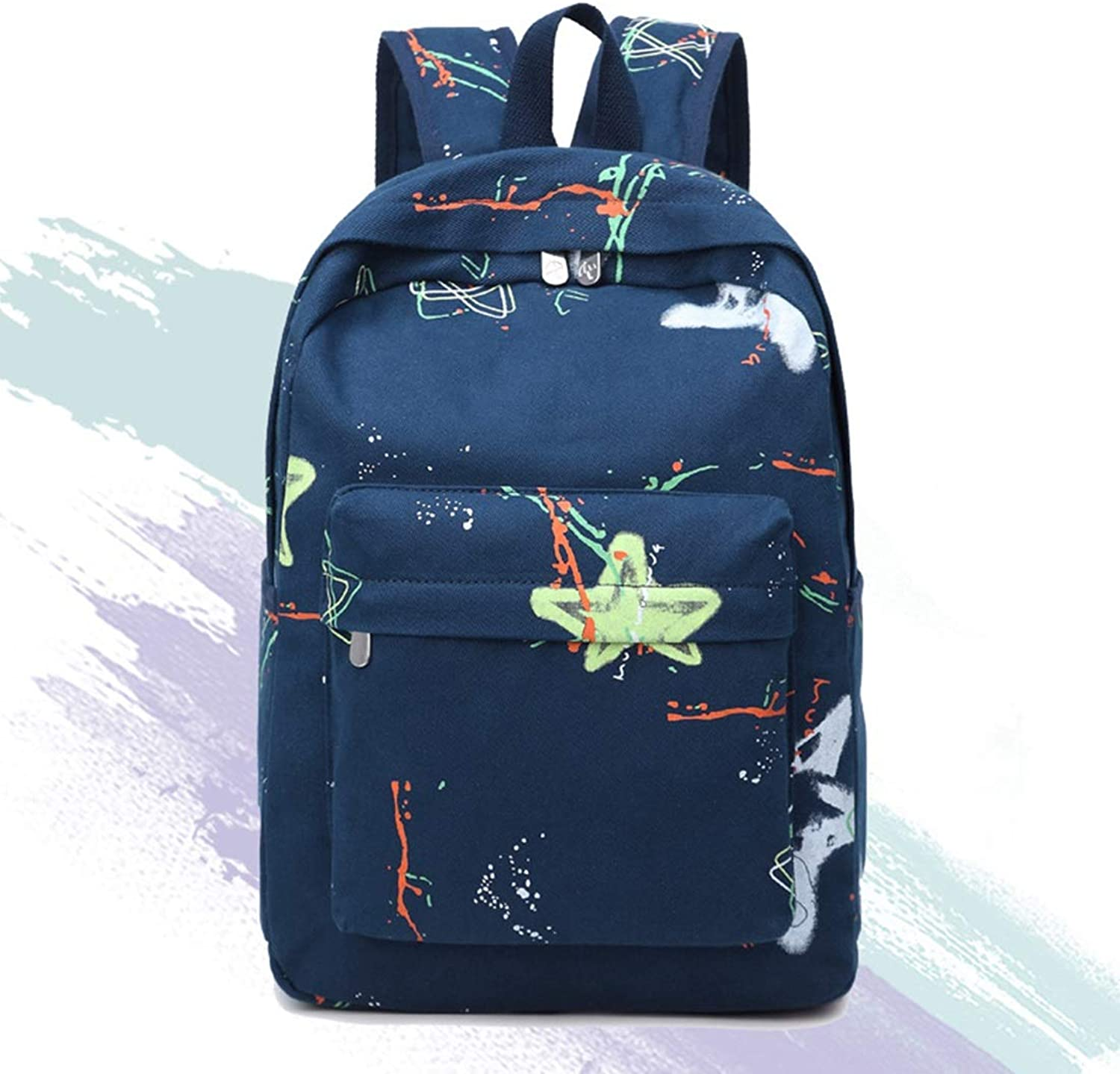 MISSKERVINFENDRIYUN YY4 Rucksack Bag Ladies Back Wallet Girls High School Student Student Everyday Commuter Light Weight Large Capacity a4 Size (color   blueee)