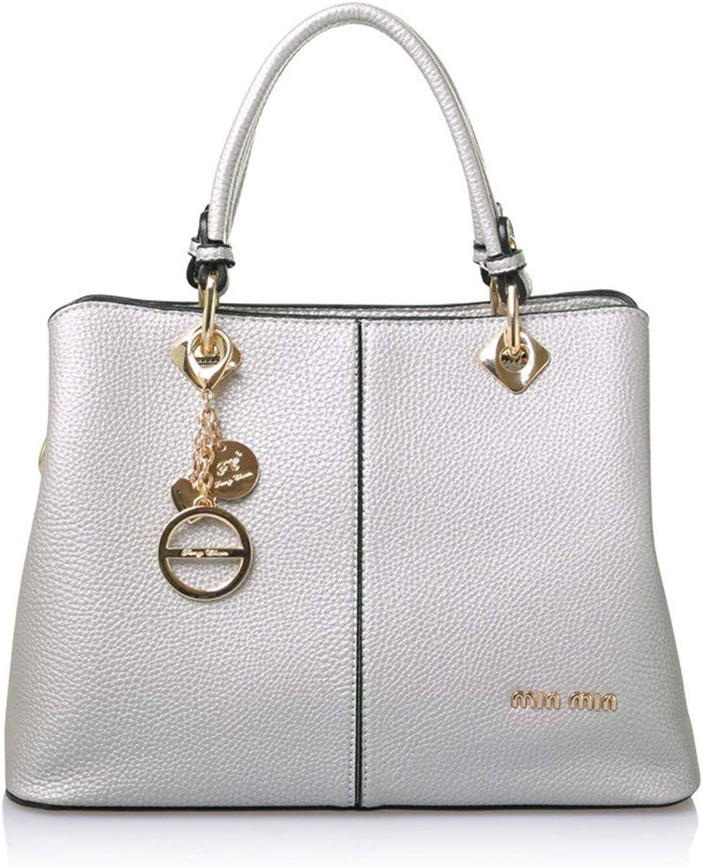 NZZNB Women's Bag Fashion Designer Large Capacity Handbag Piece Charm Metal Pendant Shoulder Bag Classic Elegant Satchel Tote Purse Top-Handle Handbags