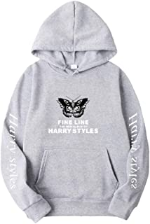 LOOVEE Harry Styles Singer Felpe Treat People with Kindness Autunno Inverno Moda Hip Hop Harry Styles Felpe con Cappuccio a Manica Lunga Maglione Pullover Cappotti Streetwear per Uomo e Donna