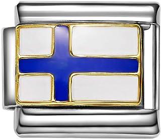Norway flag Italian charm fits 9mm classic Italian Charm bracelets