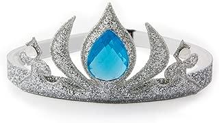 GLITTERFIT Girls Snow Queen Crown Headband, Halloween Costumes, Princess Headband for Kids - Silver