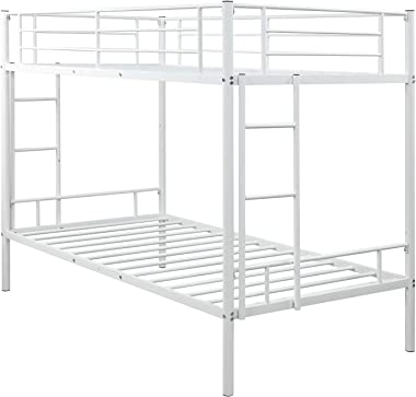 Nadim Handicraft Twin Over Twin Metal bunk Bed with Two-Side Ladders Only Frame