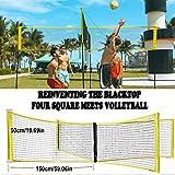 Red de Voleibol Profesional,Cuatro Cuadrados se Encuentra Redes de Voleibol para Juego de Playa en el Interior,59 x 20 Inch