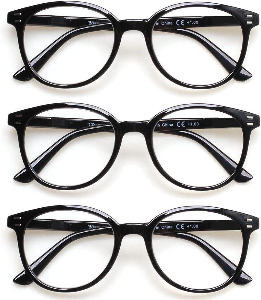Buy 20 Pack Reading Glasses Spring Hinge Stylish Readers Black ...