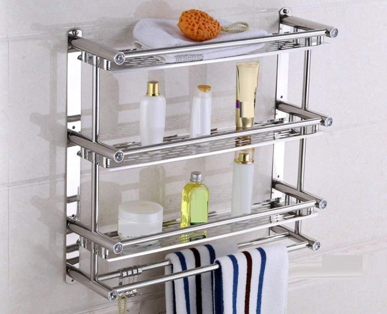 Door-Towels Dry-Towels in Stainless Steel, Bathroom Hotel Simple and Double Wall Bracket,C