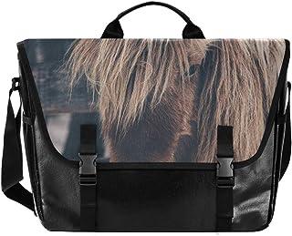 Bolsa de lona para cartero con diseño de caballo de granja, unisex, de 15.300 pulgadas, estilo retro, para negocios, bolso...
