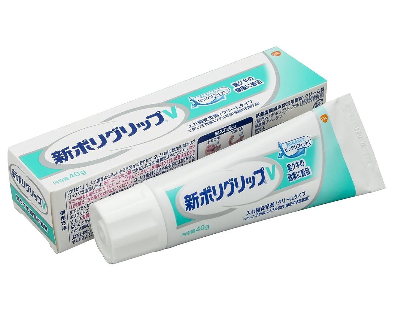 ジャンクション前部ズボン部分?総入れ歯安定剤 新ポリグリップ V(歯グキの健康に着目) 40g