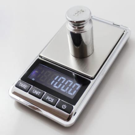 FY Home Precision Digital Scales Portable 500g x 0.1g Digital Mini Scale Jewelry Pocket Balance Weight Gram LCD (A)