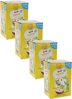 HiPP 喜宝 苹果-梨子-香蕉 混合果泥 - Anton Affe,4袋(4 x 100克)