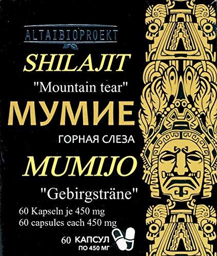 Mumijo-Shilajit-Мумиё 2 x 30 kaps jede 450 mg, Altai Gebirge, ohne Zusatzstoffe
